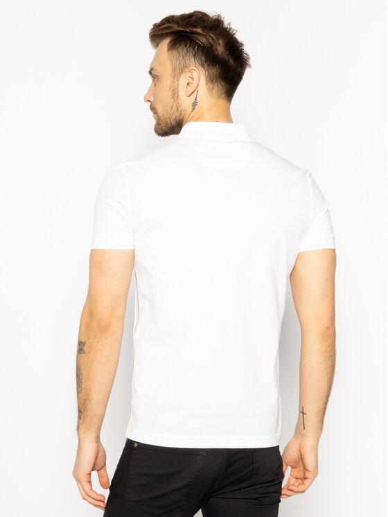 Boss Boss Тениска с яка и копчета Paddy 8 50425969 Бял Regular Fit