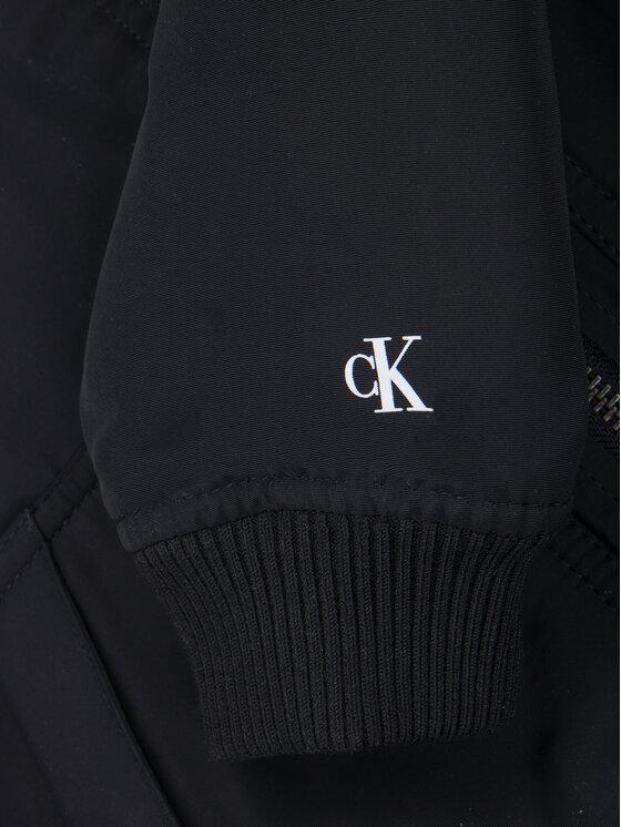 Calvin Klein Jeans Calvin Klein Jeans Giacca di transizione Logo IB0IB00370 Nero Regular Fit