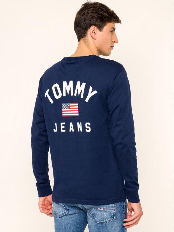 Tommy Jeans Tommy Jeans Longsleeve US Flag DM0DM07066 Granatowy Regular Fit