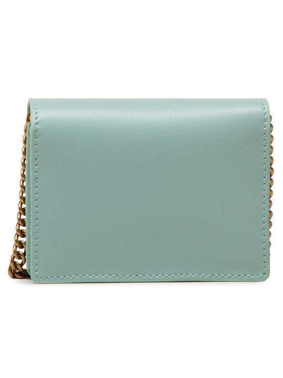 Pinko Pinko Torebka Jolie Credit Card Holder Simply 2 PE 21 PLTT 1P225S Y6XT Zielony