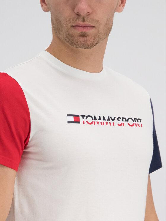 Tommy Sport Tommy Sport Póló S20S200103 Fehér Regular Fit