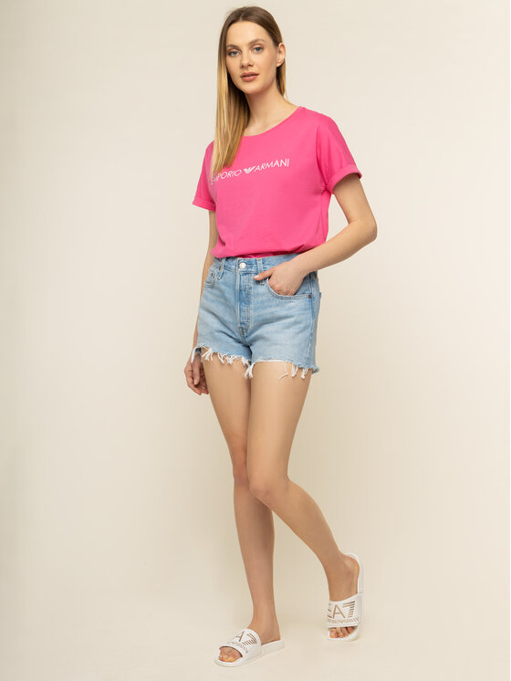 Emporio Armani Emporio Armani Marškinėliai 262633 0P340 00073 Rožinė Regular Fit