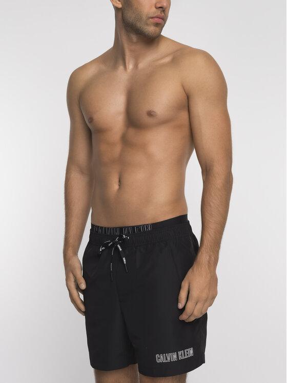 Calvin Klein Calvin Klein Szorty kąpielowe KM0KM00385 Czarny Regular Fit
