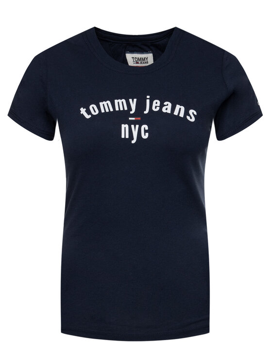 Tommy Jeans Tommy Jeans T-Shirt Essential DW0DW07161 Dunkelblau Slim Fit