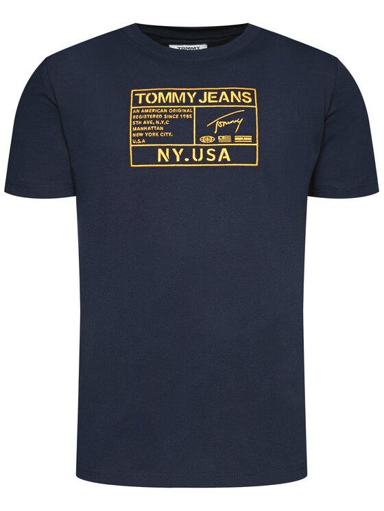 Tommy Jeans Tommy Jeans T-Shirt Tjm Gold Embroidery DM0DM07848 Σκούρο μπλε Regular Fit