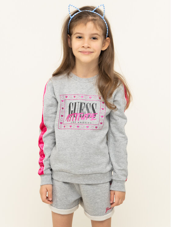 Guess Guess Sweatshirt K01Q03 K82T0 Grau Regular Fit