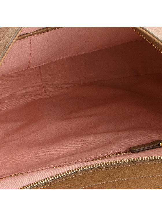 Coccinelle Coccinelle Дамска чанта DS6 Alpha Suede E1 DS6 13 01 01 Кафяв