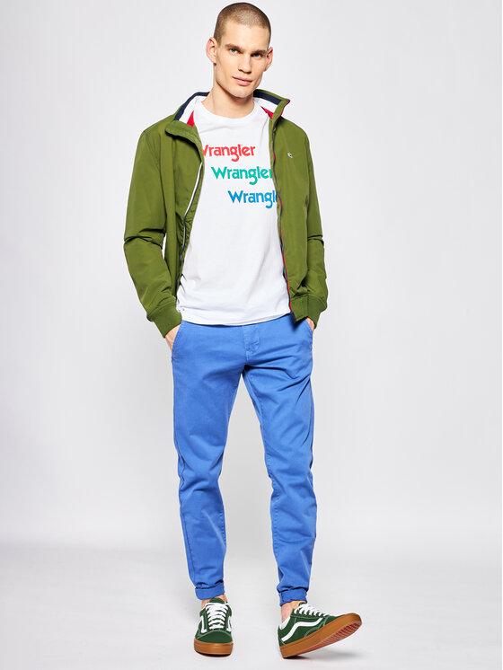 Wrangler Wrangler T-Shirt Repeat Tee W7D7D3989 Λευκό Regular Fit