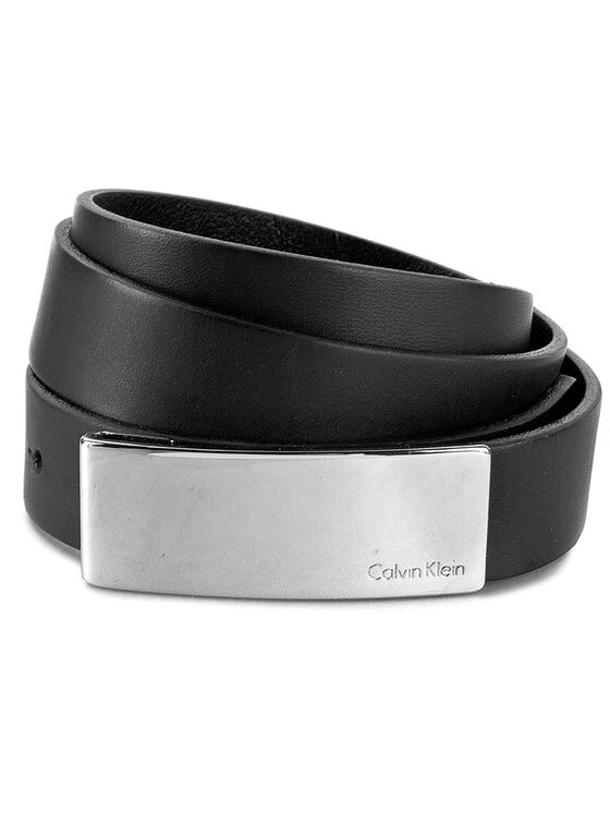 Calvin Klein Calvin Klein Dámsky opasok Standalone Curver Plaque Belt K60K601158 80 Čierna