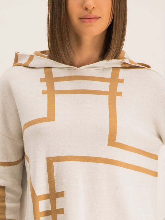 Marella Marella Sport Sweter 33660297 Biały Oversize