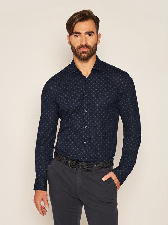 Baldessarini Marškiniai 11001/0014 Tamsiai mėlyna Regular Fit