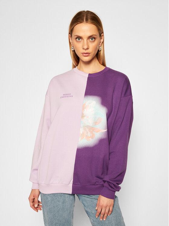 Local Heroes Džemperis Flower Mixed Sweatshirt AW2021S0018 Violetinė Regular Fit