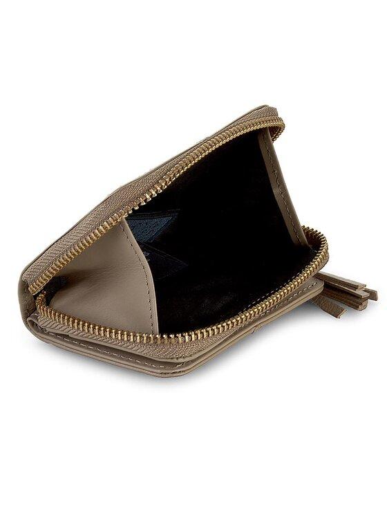 Tommy Hilfiger Tommy Hilfiger Mały Portfel Damski City Leather Coin Purse W/ Mirror AW0AW01696 Beżowy