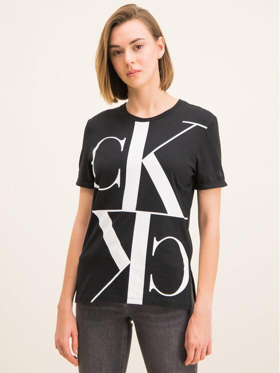 Calvin Klein Jeans Calvin Klein Jeans T-Shirt Mirrored Monogram J20J212932 Czarny Regular Fit