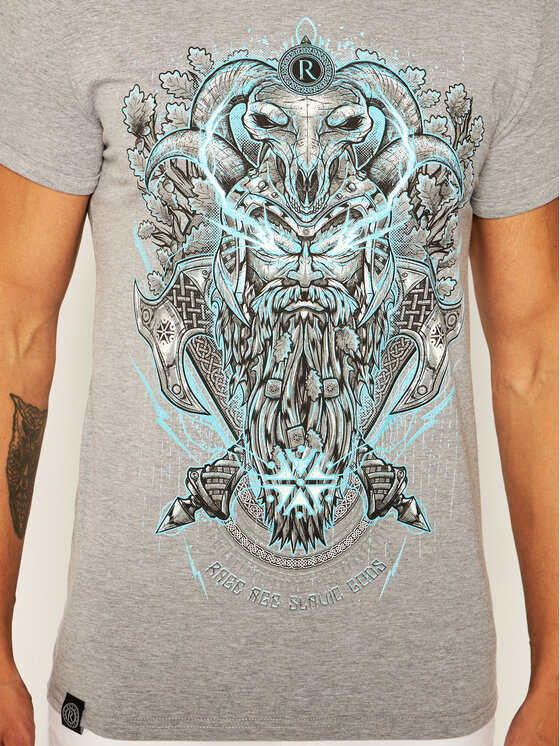 Rage Age Rage Age T-Shirt Perun Γκρι Regular Fit