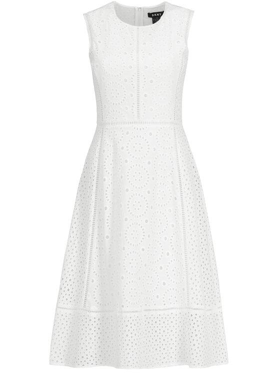 DKNY DKNY Nyári ruha P9CBEATE Fehér Regular Fit