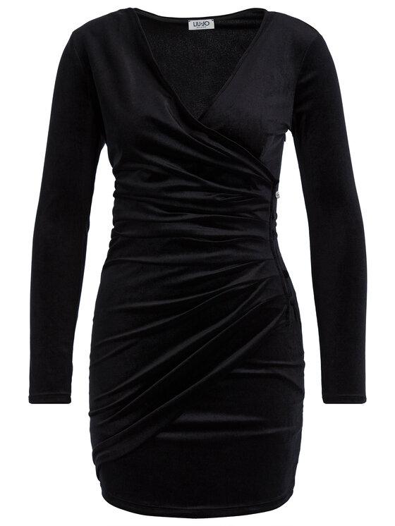 Liu Jo Liu Jo Koktejlové šaty F69245 T4099 Černá Slim Fit
