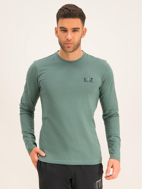 EA7 Emporio Armani EA7 Emporio Armani Тениска с дълъг ръкав 8NPT55 PJM5Z 1858 Зелен Regular Fit