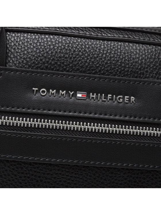 Tommy Hilfiger Tommy Hilfiger Torba na laptopa Th Downtown Slim Comp Bag AM0AM07564 Czarny