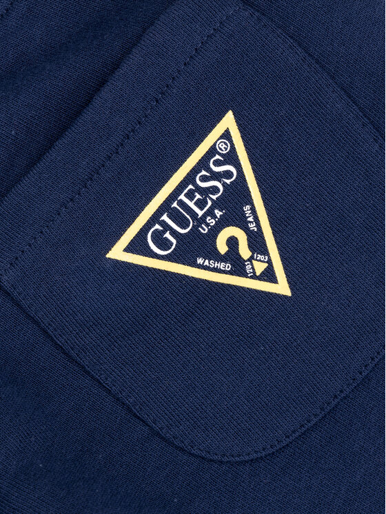 Guess Guess Teplákové kalhoty Core L93Q24 K5WK0 Tmavomodrá Regular Fit
