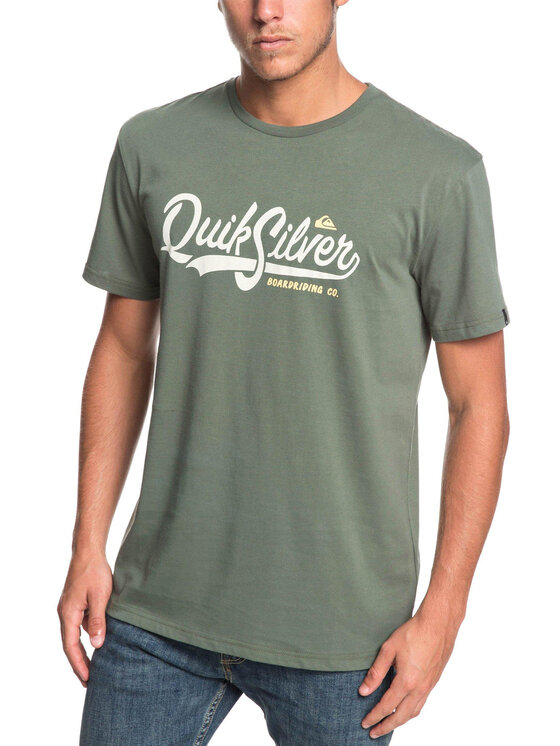 Quiksilver Quiksilver Тишърт EQYZT05293 Зелен Regular Fit