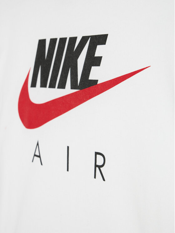 NIKE NIKE T-Shirt Air CZ1828 Biały Standard Fit