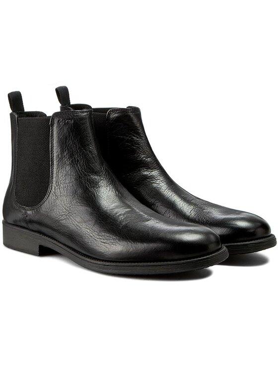 Geox Geox Kotníková obuv s elastickým prvkem U Jaylon E U54Y7E 00046 C9999 Černá