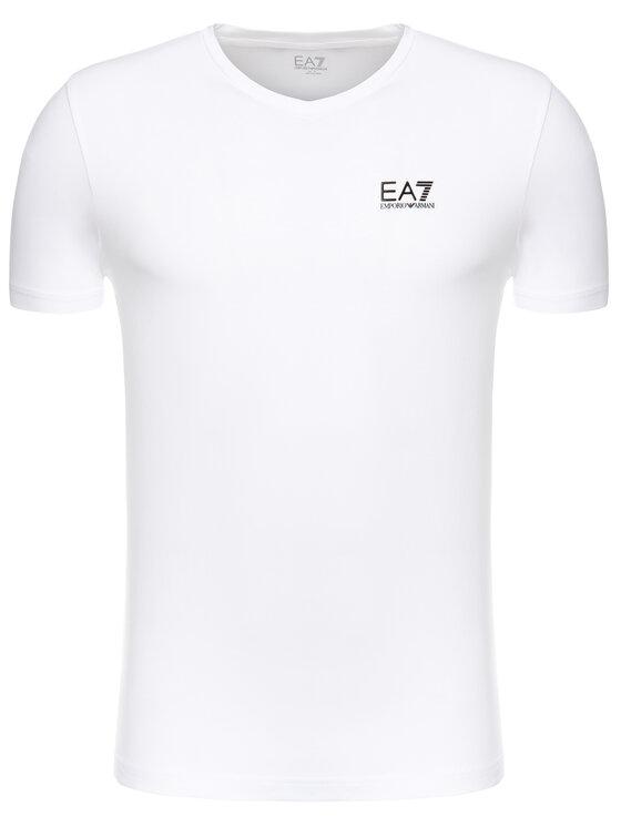 EA7 Emporio Armani EA7 Emporio Armani Тишърт 3GPT53 PJM5Z 1100 Бял Slim Fit