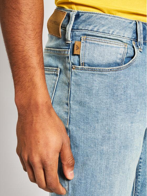 Emporio Armani Emporio Armani Slim fit džínsy 3H1J06 1DLRZ 0943 Modrá Slim Fit