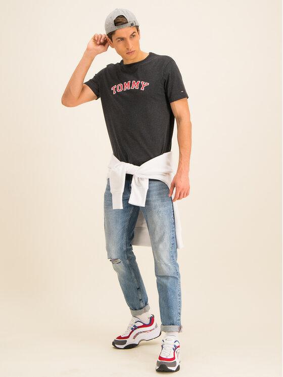 Tommy Hilfiger Tommy Hilfiger Marškinėliai Tee Logo UM0UM01623 Juoda Regular Fit