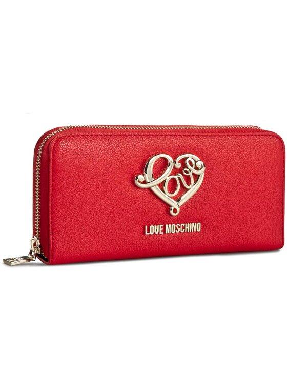 LOVE MOSCHINO LOVE MOSCHINO Duży Portfel Damski JC5509PP12LD0500 Czerwony