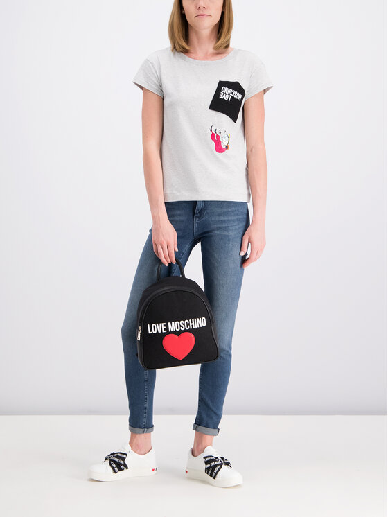 LOVE MOSCHINO LOVE MOSCHINO T-shirt W4F301EE 2065 Grigio Regular Fit