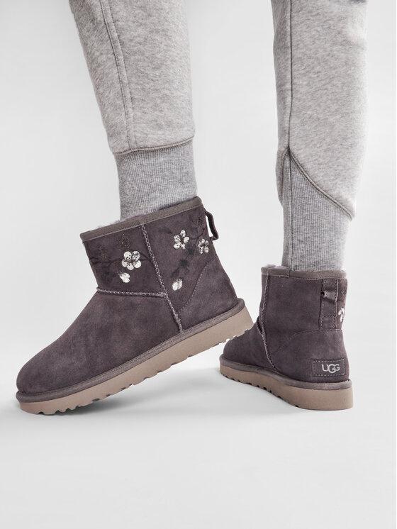 Ugg Ugg Pantofi W Classic Mini Blossom 1117317 Gri