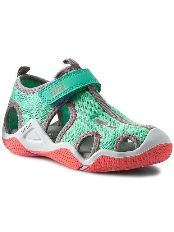 Geox Geox Sandále J Wader G. A J5208A 01415 C1F3Z S Zelená