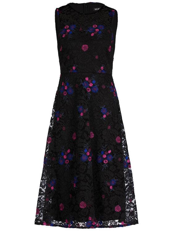 DKNY DKNY Φόρεμα καλοκαιρινό DD9EH193 Μαύρο Regular Fit
