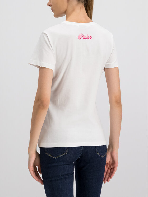 Pinko Pinko T-shirt PE 19 UNQS 3U10J6 Y2TM Bianco Regular Fit