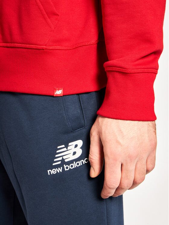 New Balance New Balance Sweatshirt Essentials Stacked Logo MT91547 Rot Relaxed Fit