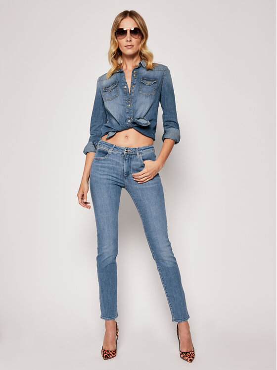 Wrangler Wrangler Τζιν Slim Fit Body Bespoke W28LWC54G Μπλε Slim Fit