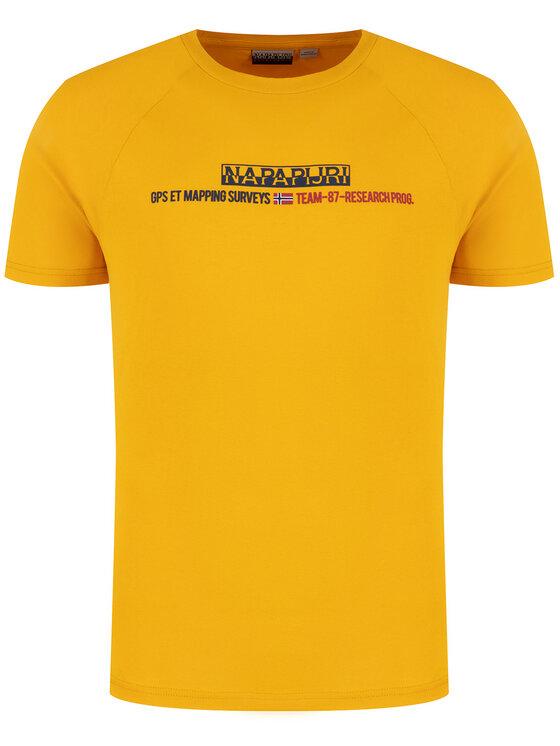 Napapijri Napapijri Тишърт Sastia NP0A4E37Y Жълт Regular Fit