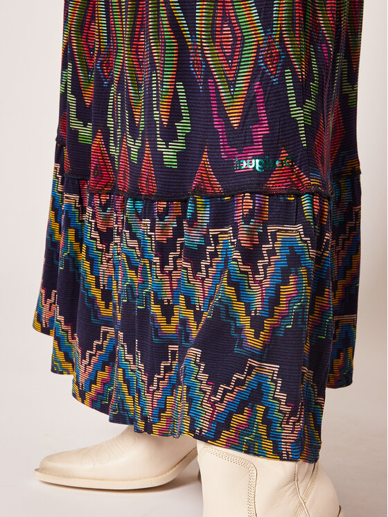 Desigual Desigual Maksi sijonas Norah 20SWFK01 Tamsiai mėlyna Regular Fit