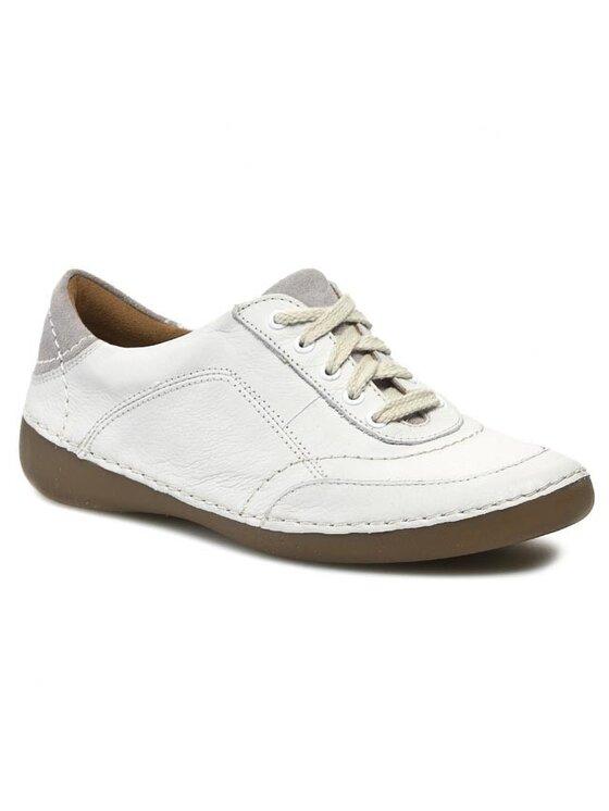 Clarks Clarks Półbuty Fashion Glitz 203580314 Biały