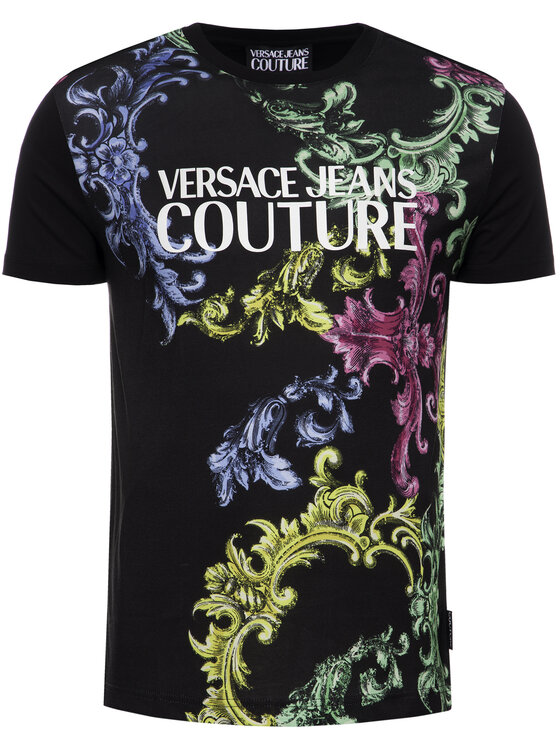 Versace Jeans Couture Versace Jeans Couture Тишърт B3GUB7M2 Черен Regular Fit