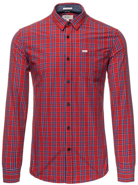 Pepe Jeans Pepe Jeans Košeľa Ernest PM305893 Červená Slim Fit