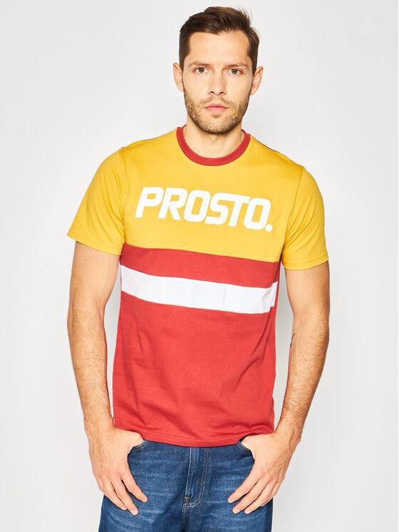 PROSTO. Marškinėliai KLASYK Ami 8104 Spalvota Regular Fit