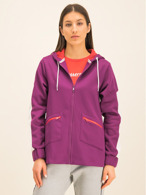 Tommy Sport Tommy Sport Džemperis Dwr Fleece S10S100405 Violetinė Regular Fit