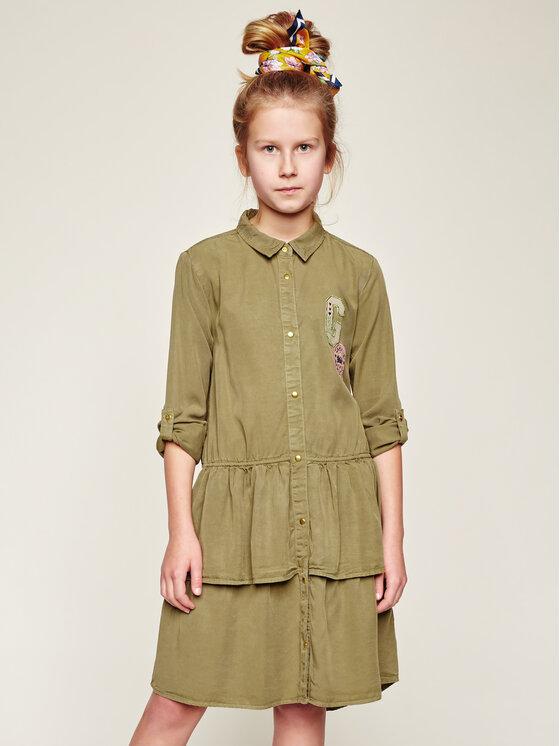 Guess Guess Každodenné šaty J94K04 WBIT0 Zelená Regular Fit