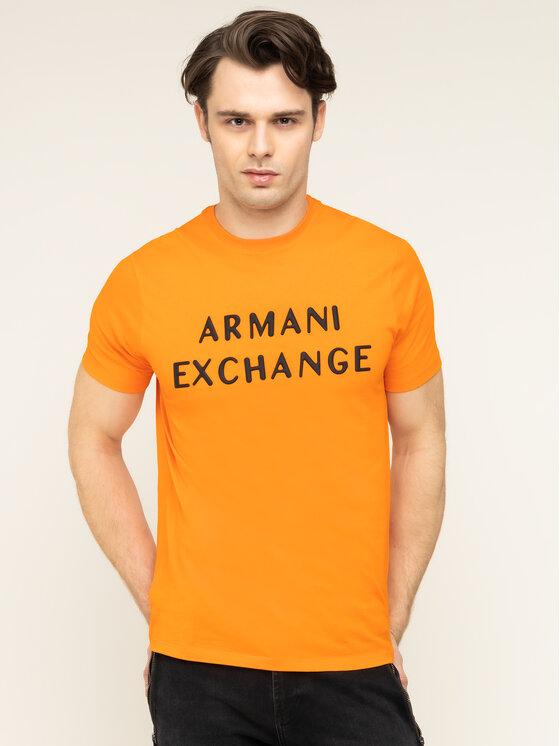 Armani Exchange Armani Exchange T-Shirt 3HZTFA ZJH4Z 1601 Πορτοκαλί Regular Fit