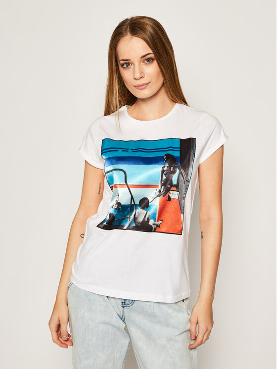 iBlues Marškinėliai Dada 79710902200 Balta Regular Fit