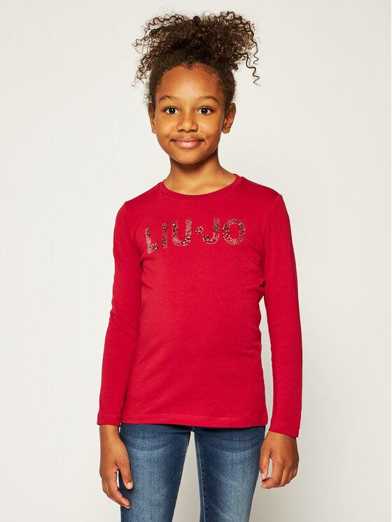 Liu Jo Kids Liu Jo Kids Bluzka G69010 J0088 Czerwony Regular Fit