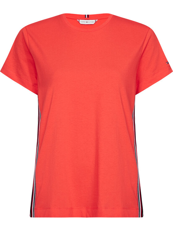 Tommy Hilfiger Tommy Hilfiger Marškinėliai Thea C-Nk WW0WW28025 Oranžinė Regular Fit